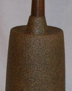 Mid Century Danish Modern Brown Stoneware Lamp