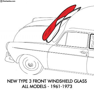 New Type 3 Replacment Clear Windshield Glass