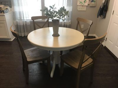 Refinished Round Table Farmhouse Style