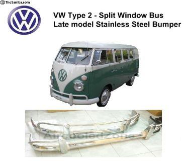 VW Split Window Stainless Steel Bumpers