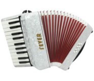 Fever Accordion F228 with 22 Piano Treble Keys and 8 Bass/Chord Buttons