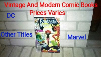 Vintage And Modern Comic Books