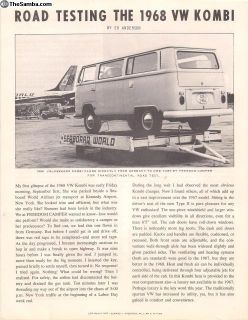 1968 4 Page Freedom Camper Bus Sales Brochure
