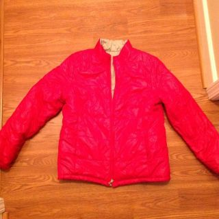 Women's FADED GLORY reversible quilted winter coat Medium so 8-10