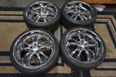"""Purchase LOWENHART 20"""" STAGGERED SET OF 4 including Bridgestone Tires motorcycle in San Luis Obispo, California, United States, for US $1,900.00"""