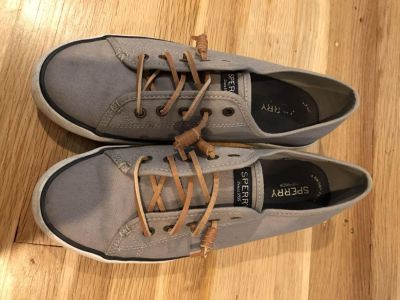 Sperry grey sneakers size 9 $10