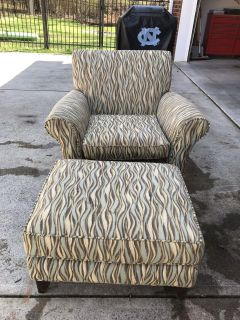 Free if picked up today! Chair and Ottoman