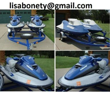 - $2700 Two Jet Skis 2001 Sea Doo gtx di WTrailer ($2700)