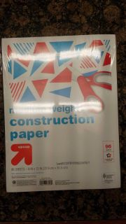 New. Colored construction paper pack.