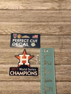 NEW unopened 2017 World Series Champions decal