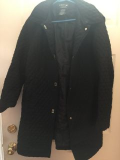 Women s black coat with hood