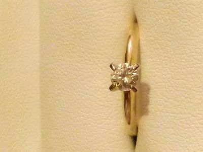 Authentic 14k Gold(.24ct) Diamond Engagement Ring