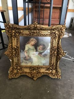 Vintage gold heavy picture