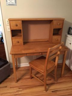 Desk with hutch & chair