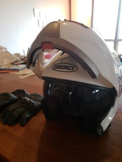 New Motorcycle Helmet and Gloves