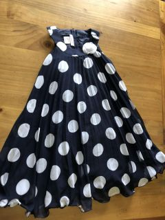 Delightful Navy and white swing dress