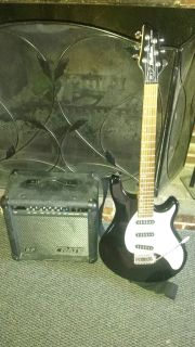 Washburn Maverick Guitar With A Crate Amp