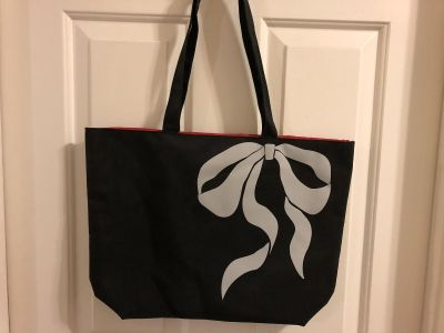 Black and Red Beach Bag
