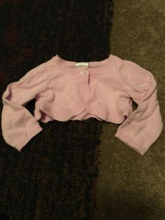 Cat & Jack nb pink cardigan - ppu (near old chemstrand & 29) or PU @ the Marcus Pointe Thrift Store (on W st)