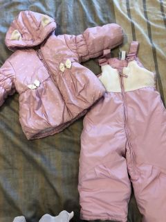 Winter coat and snow pants, size 24 mo
