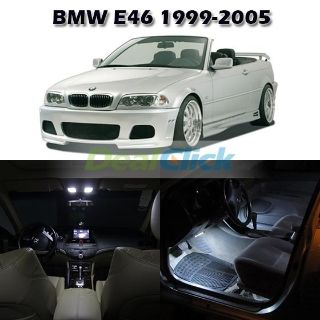 Purchase White Interior Light Lamp Package For BMW E46 Sedan Wagon Coupe Convertible motorcycle in Cupertino, CA, US, for US $19.45