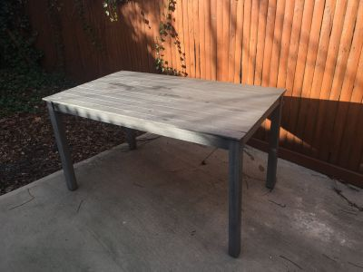 Moder Grey Outdoor Dining Table
