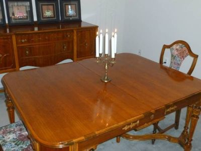 Antique Dining Table and Sideboard Combination