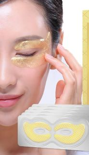 NEW: 24K Gold Eye Masks 10 Pack They Dissolve to Eye Serum for Puffiness Dark Circles Anti-aging & More