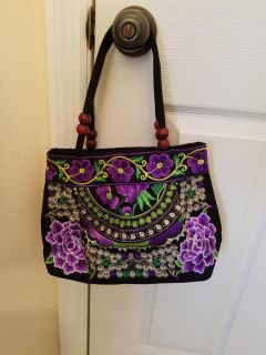 New embroidery purse