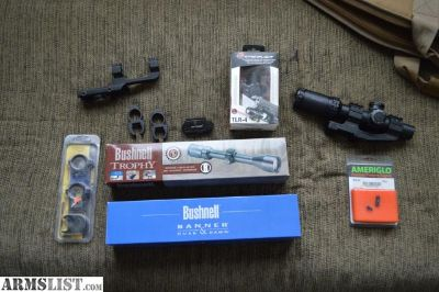 For Sale: Bushnell scopes, various mounts, and sights