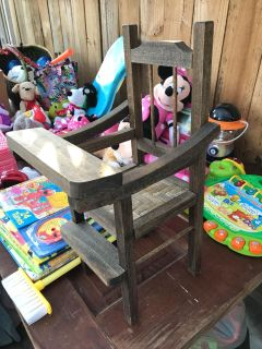 Wooden doll chair. Will fit 18 inch doll