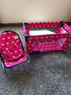 Baby doll playpen and Rocker
