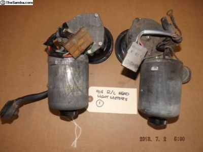 Porsche 914 Left and Right Headlight Motors