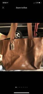 Authentic Coach Pebble Brown Derby Tote