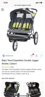 ISO double jogging stroller