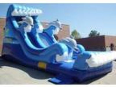 Atlanta Interactive Inflatables   19' High Dolphin Bay Splash Water Slide For