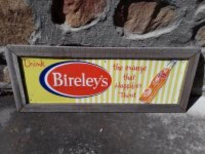 Vintage Bierleys orange soda sign