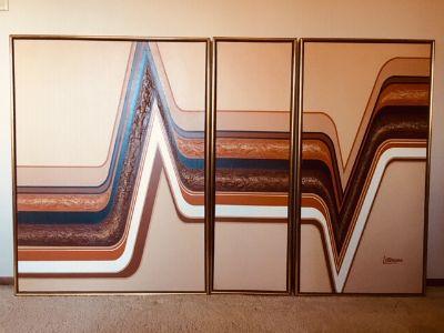 MCM Letterman Triptych Painting
