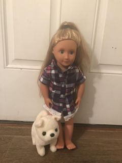 Our Generation Doll with Robotic Dog
