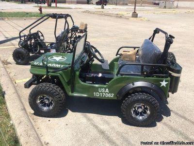 125cc army go kart Jeep