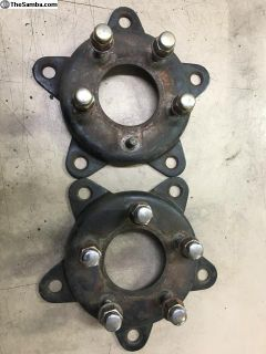 Two wheel adapters: wide 5 to Chevy