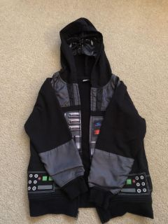 Size Small (6-7) Star Wars Zip-Up Hooded Jacket