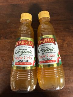 2-16 Ounce bottles of Pompion apple cider vinegar organic