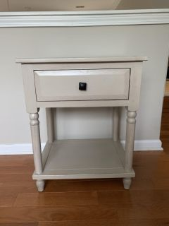 Grey/beige night stand table