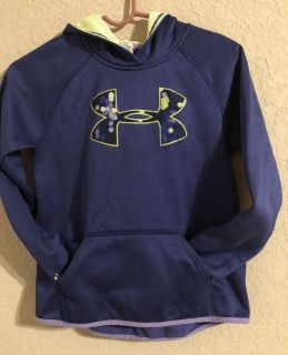 Under Armor Hoodie Slip Over Shirt- Cold Gear - Size Small- For Boy Or Girl!