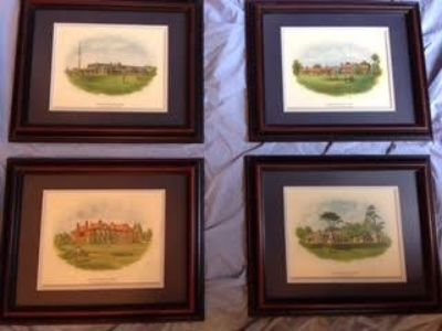 Customed framed Famous British Golf Clubs (courses)