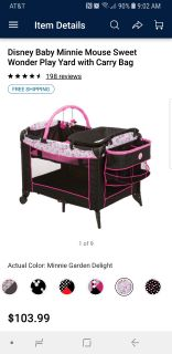 Minnie play pen/changing table