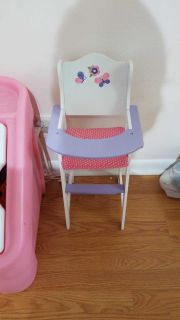 Wooden baby doll high chair