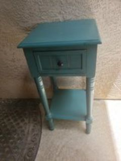 Teal night table