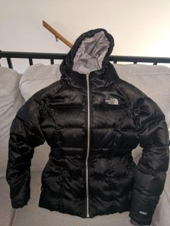 Girls M (10/12) The North Face down filled coat